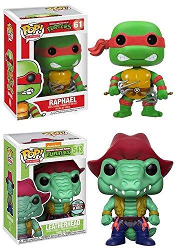 (Funko POP! Teenage Mutant Ninja Turtles: Raphael + Leatherhead (Specialty Series) – Vinyl Figure Set NEW)