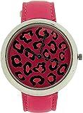 ZAZA London LLB851 pink - Reloj para mujeres, correa de cuero color rosa