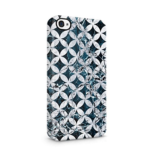 Marble Stone Forest Woods Nature Tumblr Apple iPhone 4 , iPhone 4S Snap-On Hard Plastic Protective Shell Case Cover Custodia Dark Blue Marble