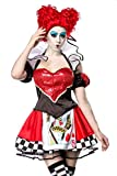 Atixo Red Queen Kostümset - schwarz/rot/weiß, Größe Atixo:XS-M