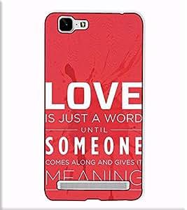 Fuson Designer Back Case Cover for Vivo X5Max :: Vivo X5 Max (Love Is Just A Word)