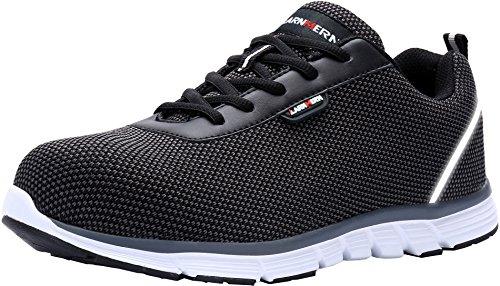 Zapatos de Seguridad para Hombre,LM-30 Punta de Acero Ultra Liviano Zapatillas de Trabajo Reflectivo...