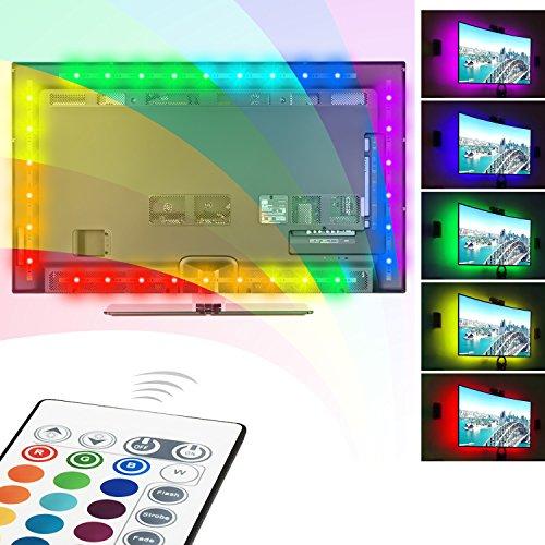 LED Streifen, Ubenmart TV Hintergrundbeleuchtung USB LED Beleuchtung Für 40 bis 60 HDTV RGB LED Fernseher Beleuchtung mit Fernbedienung, LED Strip