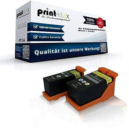 Dell Tintenpatrone Patronen (2x kompatible Tintenpatronen für Dell P513w P713w Dell V310Series V313 V313w V510Series - Schwarz und Farbig Y498D X740N - Set)