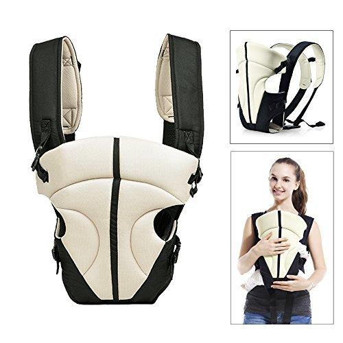 HJ® Baby-und Kindertrage Comfort Babytrage Bauch- und Rücken- 3.6-9.1KG 3-18 Monate Weiß