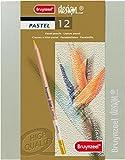 Bruynzeel design pastel, 12 Künstler-Pastelllstifte im Holzetui