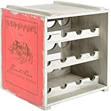 ts-ideen Mobile Porta Bottiglie Cantina Cantinetta Legno Rosso Vintage Retró Shabby
