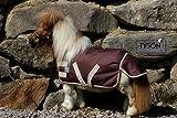 Regendecke Decke Pony Shetty Minishetty Braun / Beige 600 D nur KLETT Outdoordecke Ponydecke 70 75 80 85 90 95 100 HIER 100 cm cm