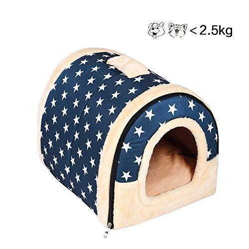 Enko 2 en 1 Cómodo Casa para Mascotas y Sofá, De Alta Calidad En Interiores y Exteriores Portátil Plegable de Cama Para Perro / Cama Para Gato. Una Casa Caliente Para su Mascota.(