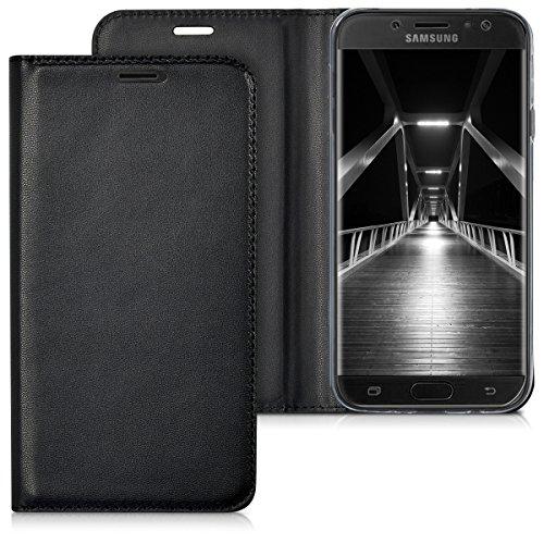 kwmobile Hülle für Samsung Galaxy J7 (2017) DUOS - Flipcover Case Handy Schutzhülle Kunstleder - Bookstyle Flip Cover Schwarz