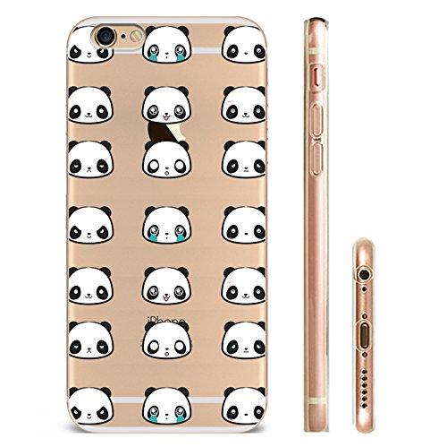 IPHONE 6s Hülle Traumfänger Ballon Karikatur Panda TPU Silikon Schutzhülle Handyhülle Case - Klar Transparent Durchsichtig Clear Case für iPhone 6/6s panda15