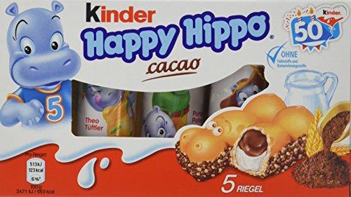 Preisvergleich Produktbild kinder Happy Hippo Cacao Vorratspack,  10er Pack (10 x 103, 5 g Packung)