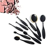 Contour Make Up Oval Contour Kosmetik Schmink Pinsel Set (10ltg) Make up Brushes Set Foundationpinsel / Blushpencil / eyeshadowpinsel etc Set Schwarz