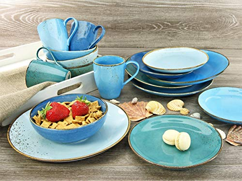 Creatable 20157, Serie Nature Collection Aqua, Geschirrset Kombiservice 16 teilig