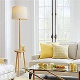 Lampadaire simple moderne bois massif salon étude chambre tête de lit IKEA trépied table basse lampadaire,yellow