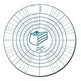 Städter 256941 Multiflex - Backmatte rund, Silikon, weiß / blau, 40 x 40 x 0,5 cm