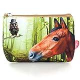 Etui Pferd - Kulturtasche Pferd - Beutel Pferd - Mädchen Etui - 17x24x3cm