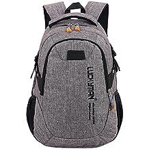 Wiltson Mochila de carga USB, mochila de estudiante de secundaria, Mochila de viaje de
