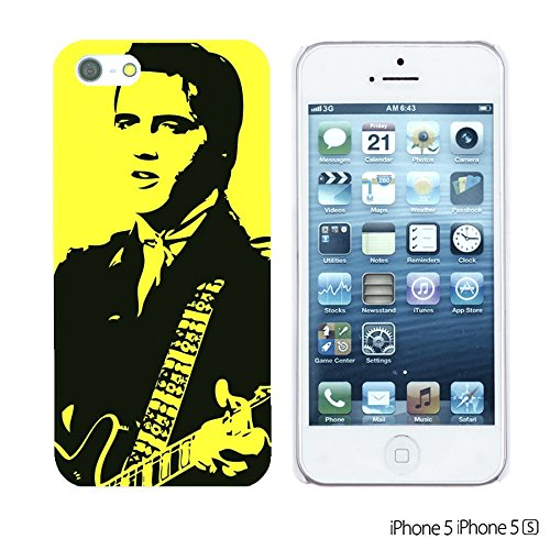 OBiDi - Celebrity Star Hard Back Case / Housse pour Apple iPhone SE / Apple iPhone 5S / 5 - Frank Zappa Elvis Presley with Gultar