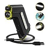 ICHECKEY 3 en 1 mulfonction Batterie Portable Externe 6700mAH Waterproof IP67 (80 CM câble Inclus) Lampe Torche LED Lampe de SOS Rechargeable USB avec Marteau de Sauvetage (Noir)