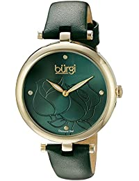 053140c13450 Burgi Reloj de Pantalla analógica Cuarzo Verde para Mujer