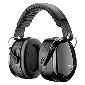 Mpow Ear Defenders, Fits Adults and Kids, 34dB SNR Comfortable Safety Ear Muffs Hearing Protector with Folding-Padded Head Band for working,Shooting, Construction, Reading , Yard Work