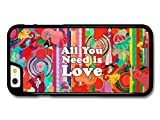 All You Need Is Love John Lennon The Beatles Quote Illustration Background hülle für iPhone 6 6S