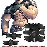 Boshanda Elettrostimolatore Muscolare Trainer Muscle Stimulator EMS Addominali Trainer Cintura Addominale Portatile ABS Stimolatore Addome/Braccio/Gambe/Waist/Glutei Massaggi-attrezzi Uomo/Donna (type 1)