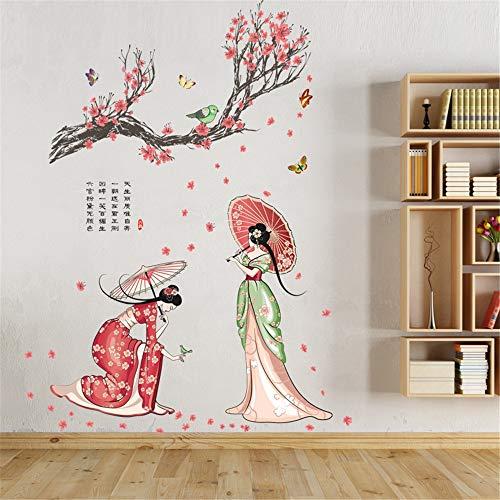 T-QTSP mural JM7331 Chinesische klassische schönheit wandaufkleber schönheitssalon -