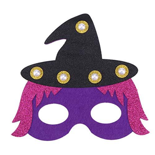 Kostüm Hexe Glitter - Beaupretty halloween licht maske glitter halbe gesichtsmaske kostüm party augenmasken hexe gesichtsbedeckung requisiten cosplay masken