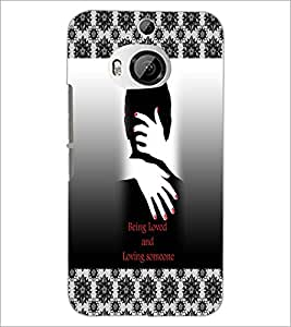 PrintDhaba Quote D-3261 Back Case Cover for HTC ONE M9 PLUS (Multi-Coloured)