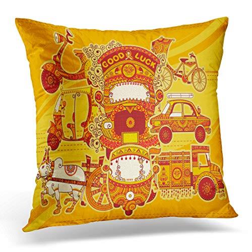 Emvency Funda de Almohada para camión de Estilo Indio con diseño de...