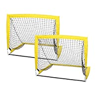 Shinehalo Kids Pop-Up Football Goals Toys, Children Folding Soccer Target Goal Post Easy Assemble Football Training Net