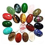 Healifty 5pcs Piedras Preciosas y Cristales Perlas de Cuarzo Granos ovalados encantos de Piedra de Cristal a Granel para la fabricación de Joyas (Color Mezclado)