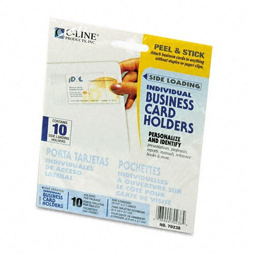 c-line-products-c-line-self-adhesive-business-card-holders-side-load-3-1-2-x-2-clear-10-pack-sold-as