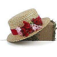 HHF Caps y Sombreos Sombrero de sol de paja con sombrero de cangrejo de  paja de a7ae9456d02