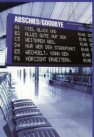 Abschiedskarte Abschied / Goodbye