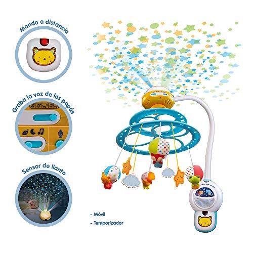 Imagen para VTech Baby 3480-181022 Noche Estrellitas - Proyector móvil  para bebé, con luces y sonidos relajantes, lámpara/módulo extraíble, mando a distancia y temporizador