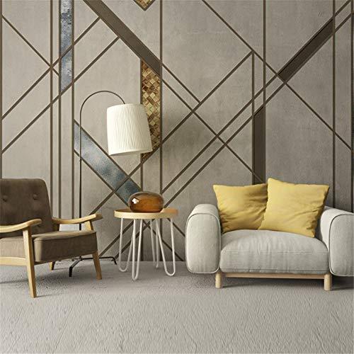 Reagone 5d pittura tridimensionale non tessuto carta da parati nordic minimalista astratta geometrica linea divano quadrato arte parete muro, 350x245 cm (137,8 per 96,5 pollici)