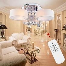 VINGOR 3Flamming Led Modern Kristall Lster Deckenleuchte Acryl Dimmbar Warmweiss Weiss Wohnzimmer Lampe