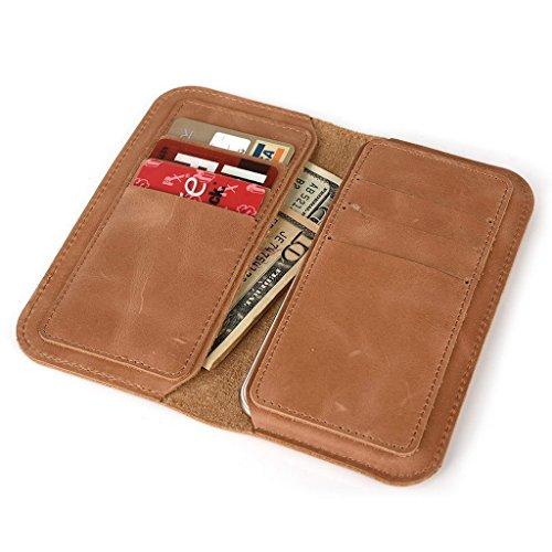 Portefeuille en cuir véritable Housse étui pour Vodafone Smart 4 noir peau