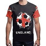 BesserBay Herren England Fan-Shirt WM 2018 Fußball Trikot Sport Team Rundhals L