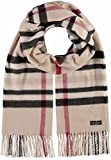 FRAAS Schal kariert für Damen & Herren - Made in Germany - Karo-Schal aus reinem Cashmink - weicher als Kaschmir - Winter-Schal - kariertes Plaid Beige