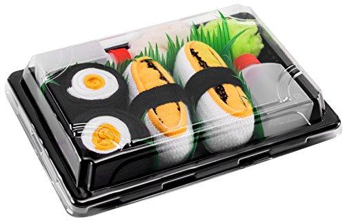 Tamago-Omelett, Oshinko Maki EU-Größen 36-40 in Europa hergestellt, ideal als Geschenk! Originelle Socken bester Qualität, mit Öko-Tex-Zertifikat (Baby Entstanden Ideen)