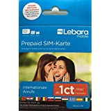 Lebara-Mobile Pre-Paid SIM-Karte mit 10€ Guthaben (7,50€ Startguthaben + 2,50€ Bonus für die erste Aufladung) über T-Mobile Netz