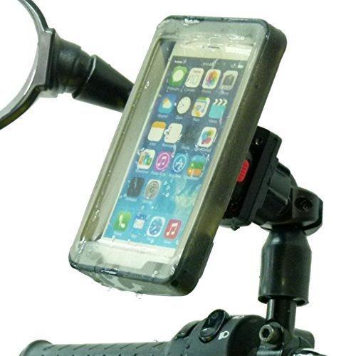 BuyBits Handy Halter Roller Moped Fahrrad Spiegel Halterung & Regenabdeckung Für Handys / Smartphone