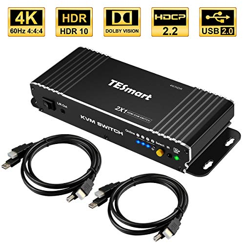 TESmart 2Fach HDMI KVM Switch,4K Ultra HD