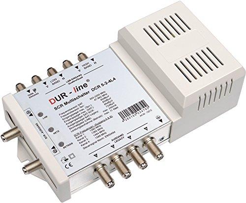"""DUR-line DCR 5-2-4-L4 SCR-Schalter - Einkabellösung für 2x4 SCR-Teilnehmer + 4 Legacy Ausgänge - 2x Test """"sehr gut"""""""