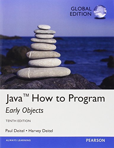Java How To Program (early objects): Global Edition by Harvey Deitel (2014-10-03)