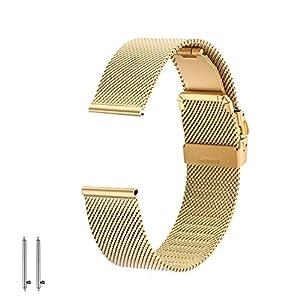 EONPOW Edelstahl Uhrenarmband Mesh Faltschließe ausgestattet Metallarmband